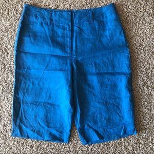 KIM ROGERS 100% linen Bermuda shorts